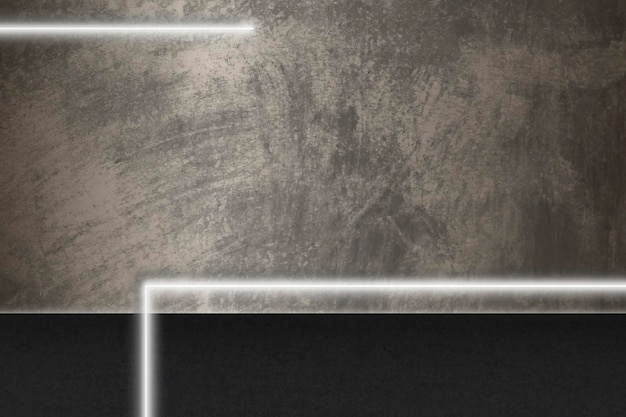 White glowing lines on grunge brown background