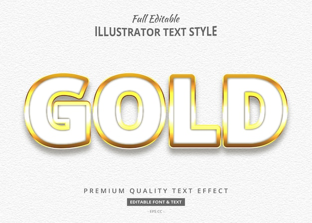 White gold 3d text style effect