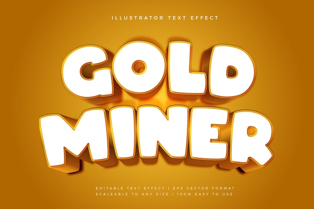 Эффект шрифта в стиле игрового текста из белого золота