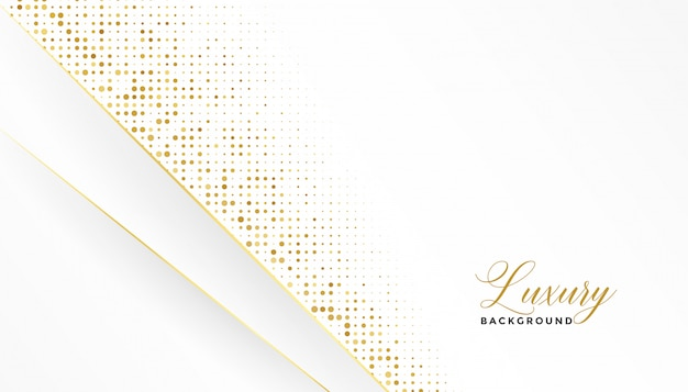 White and gold luxury background with glitter