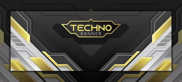 White gold technology social media cover banner template