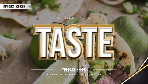 White and gold text style with pressed effect