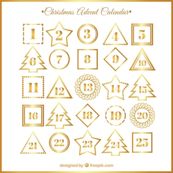 White and golden advent calendar
