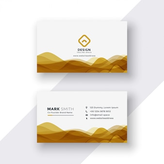 White and golden business card