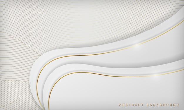 White golden curve line luxury background elegant concept design