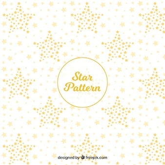White and golden star pattern