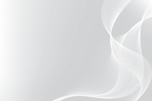 White and gray particle line wave abstract background modern design