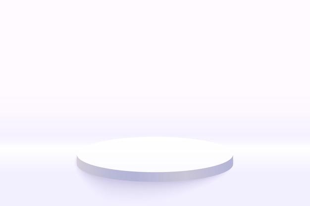 Sfondo di mockup display podio grigio bianco