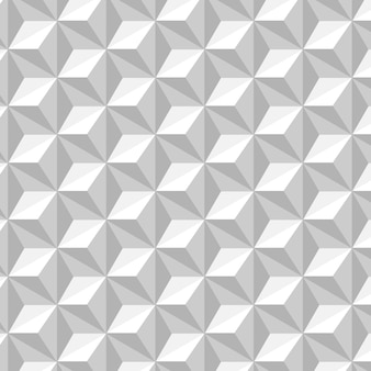 White and gray seamless pattern with hexagons background