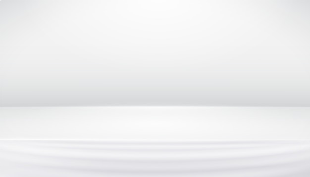 White gray studio abstract background with smooth lines, shadows