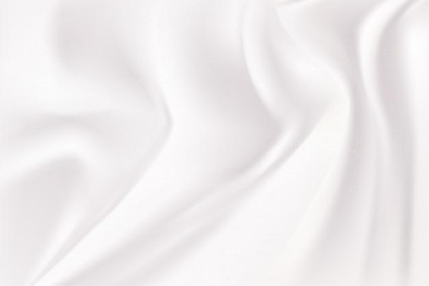 White and gray wave silk fabric abstract background.
