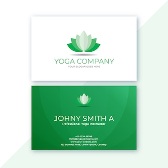 White and green in clean business card