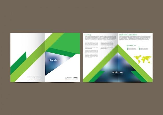 Brochure aziendali geometriche bianche e verdi