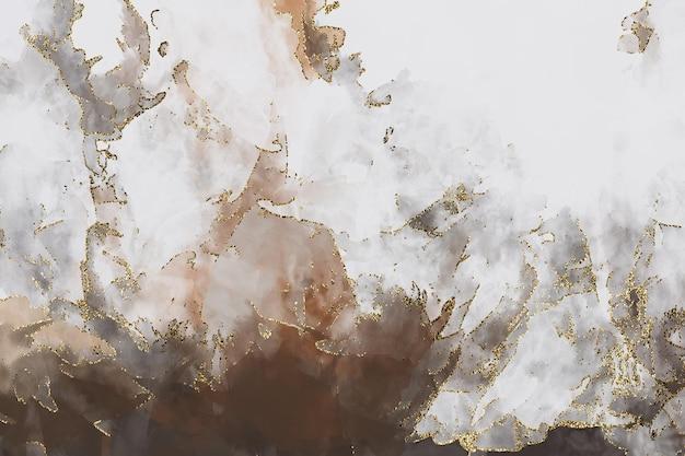白灰色と茶色の水彩キラキラ背景