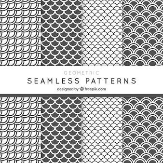 White and grey archs patterns pack