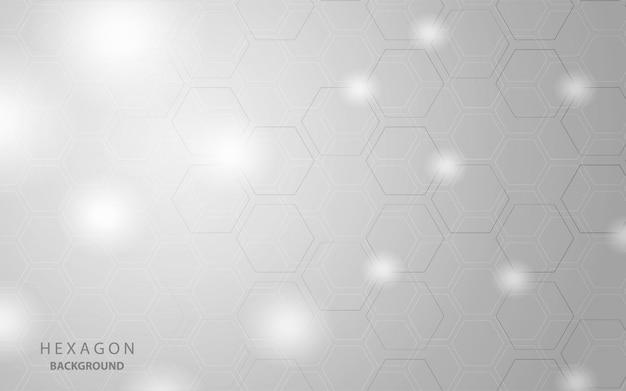 White and grey hexagon background