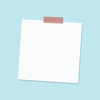 Vettore di adesivo per diario di carta da lettere a griglia bianca