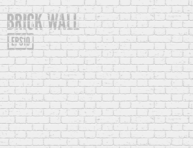 白いグランジレンガの壁のロフトスタイルの背景