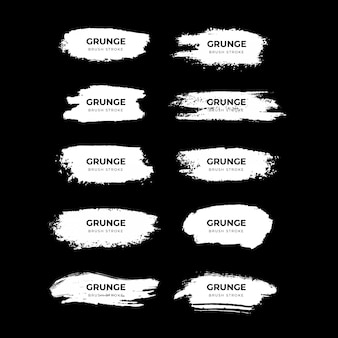 White grunge brush stroke collection