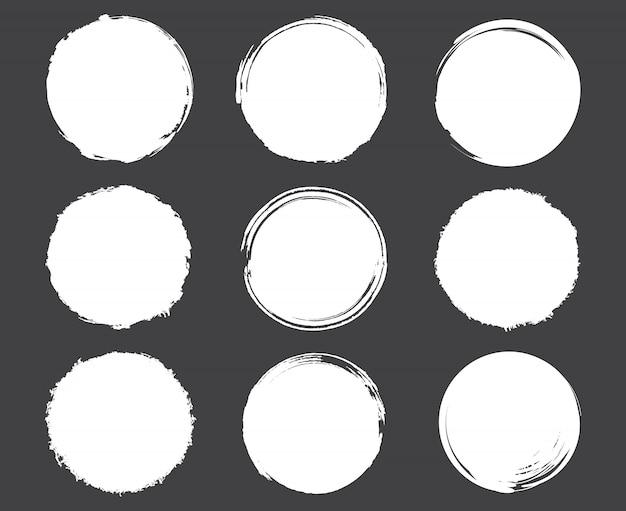 White grunge circle frames