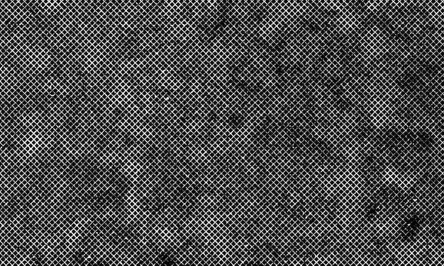 黒の背景に白いグランジネットテクスチャ