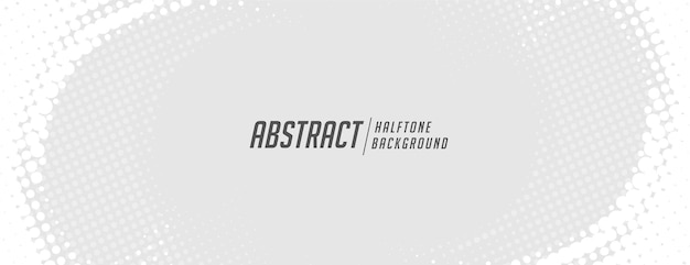 White halftone banner in swirl style