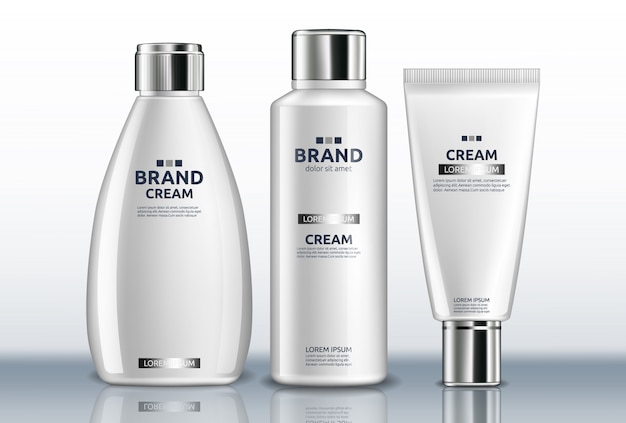 White hand cream and body lotion