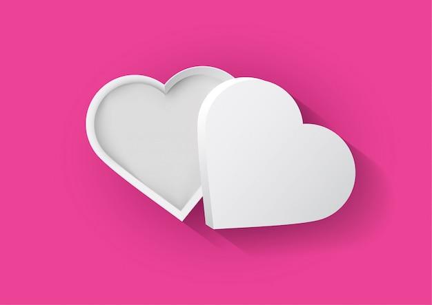 Белая коробка сердца