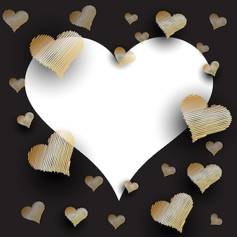 黄金の心ホワイト心