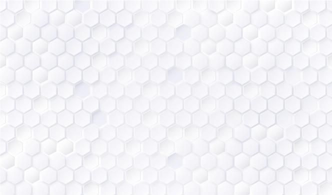 White hexagon pattern background