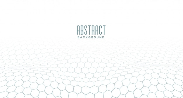 White hexagonal digital abstract background