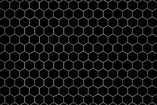 White hexagonal patterned background