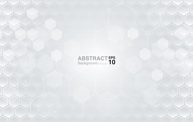 White hexagons background. futuristic background
