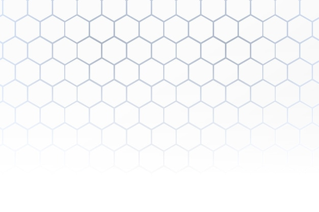 White honeycomb background in 3d style
