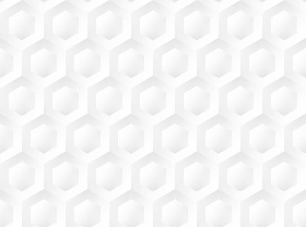 白いハニカムシームレスエンボスパターン。ベクトルイラスト
