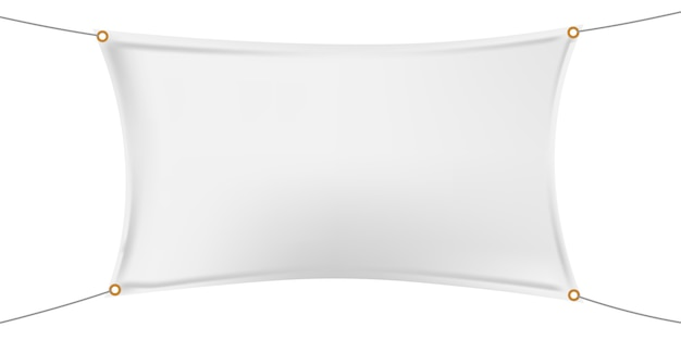 흰색 가로 비닐 배너 모형