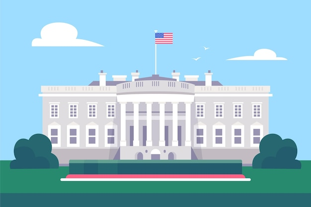 White house building illustration