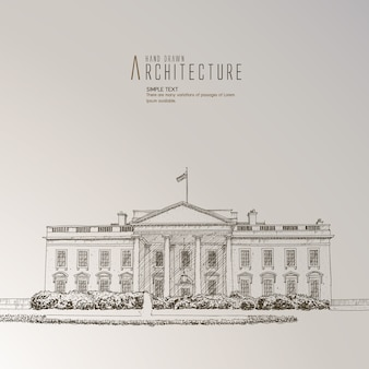 The white house hand drawn