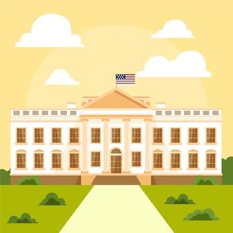 평면 디자인에 백악관 그림