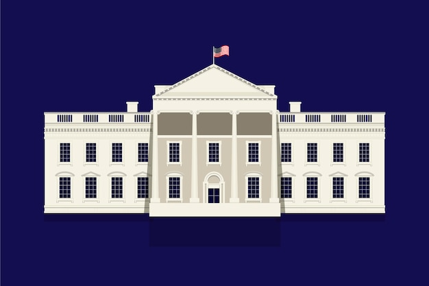 White house illustration