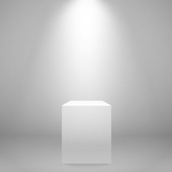 壁に白く照らされたスタンド
