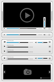 White interface for media player