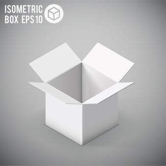 Белый изометрический макет