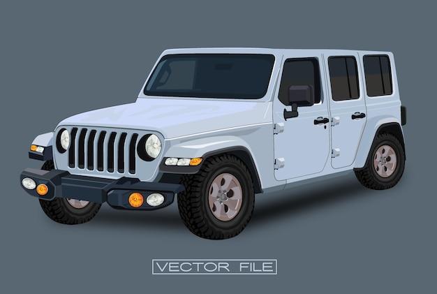White jeep car