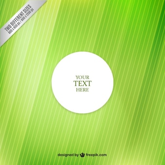 White label over green background