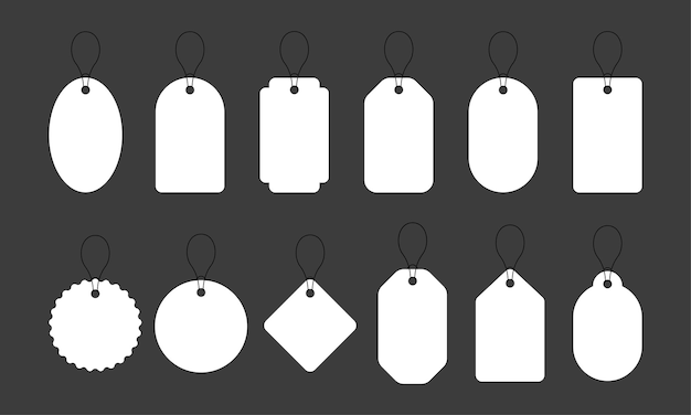 Белая этикетка в стиле ретро белая абстрактная текстура форма круга знак продажи элегантное украшение