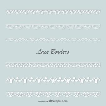 White lace borders