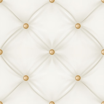 White leather upholstery seamless pattern background.