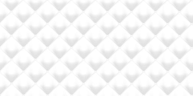 白い革張り