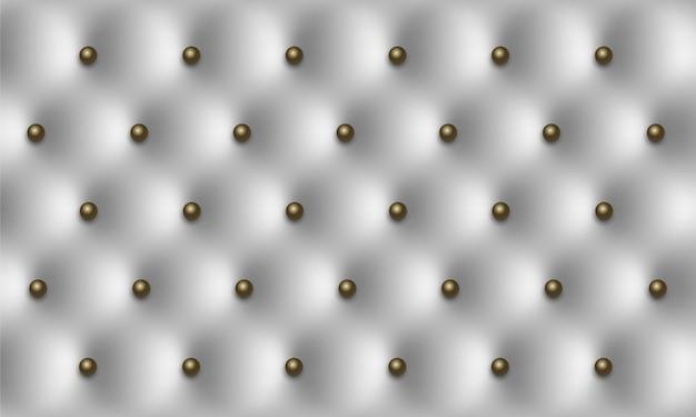 Белая кожа винтажная роскошная текстура с фоном кнопок
